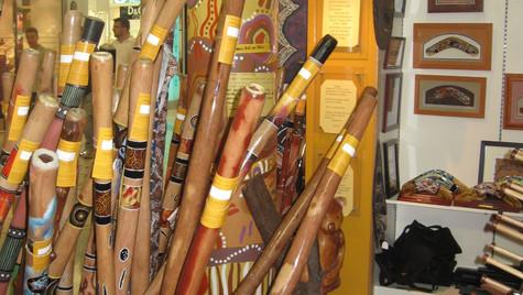 Wind instruments called Didgeridoo