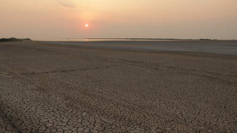 Sun sets on Little Rann of Kutchh