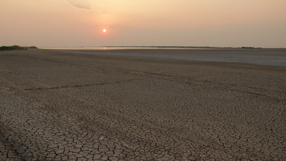 Sun sets on Little Rann of Kutchh