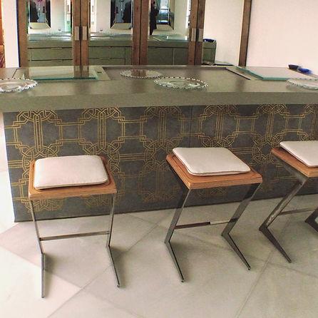 משטח מטבח מבטון אדריכלי, דפנות מטבח מבטון אדריכלי, כיור בטון אדריכלי אינטגרלי