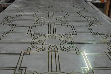 משטח שולחן מבטון אדריכלי, משטח שולחן חרוט מבטון  אדריכלי
