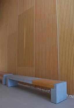 ספסל בטון אדריכלי מעוצב