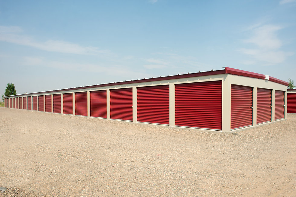Storage units at a commercial facility..