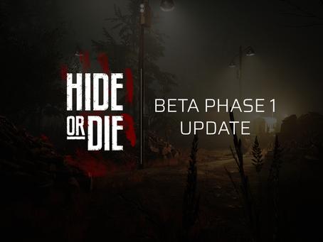 Hide Or Die: Beta Phase 1: Update 1