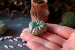 Green fairytale pumpkin