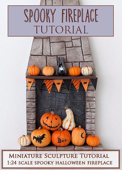 Spooky Fireplace Miniature Sculpture Tutorial