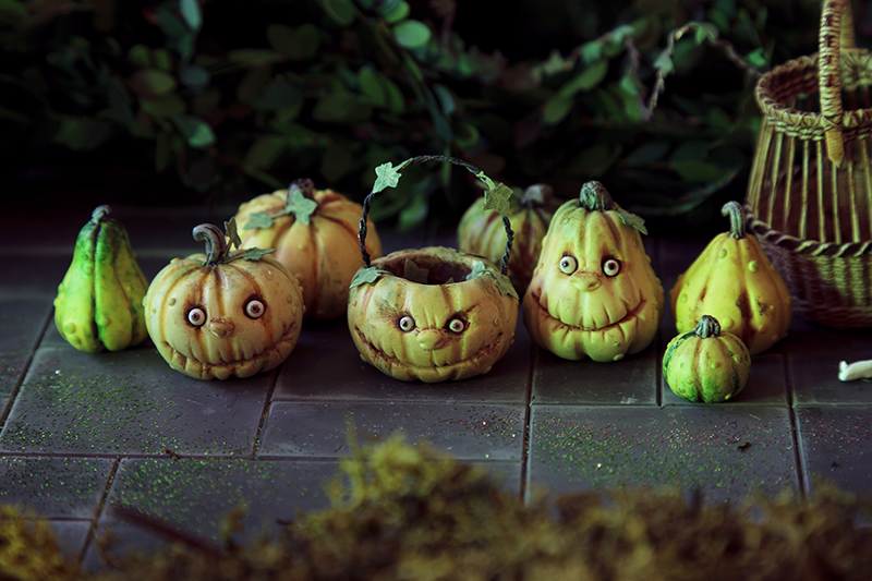 Warty pumpkins and squash
