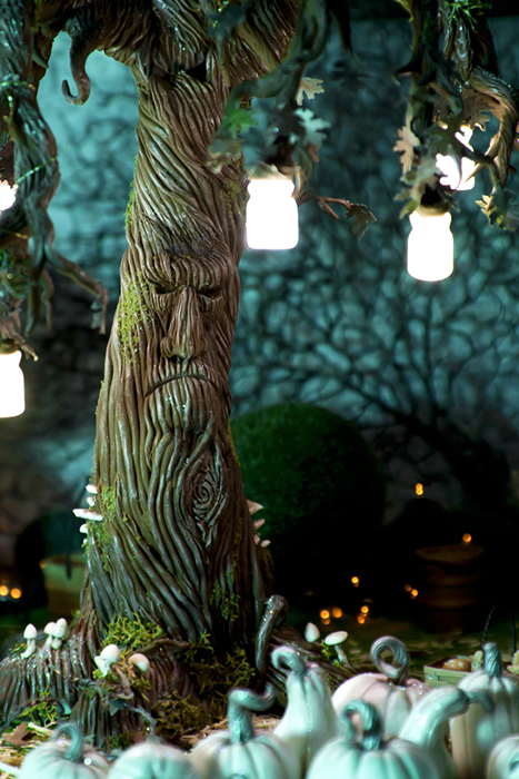 Enchanted tree with lanterns
