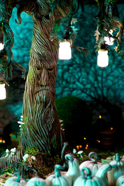 Enchanted tree with lanterns