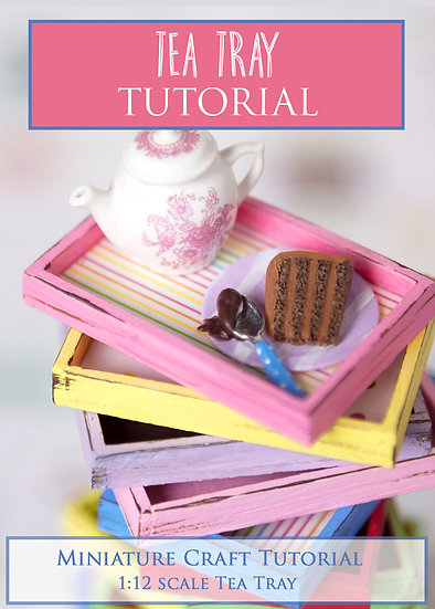 Tea Tray Miniature Tutorial