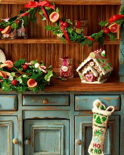 Gingerbread house Christmas scene