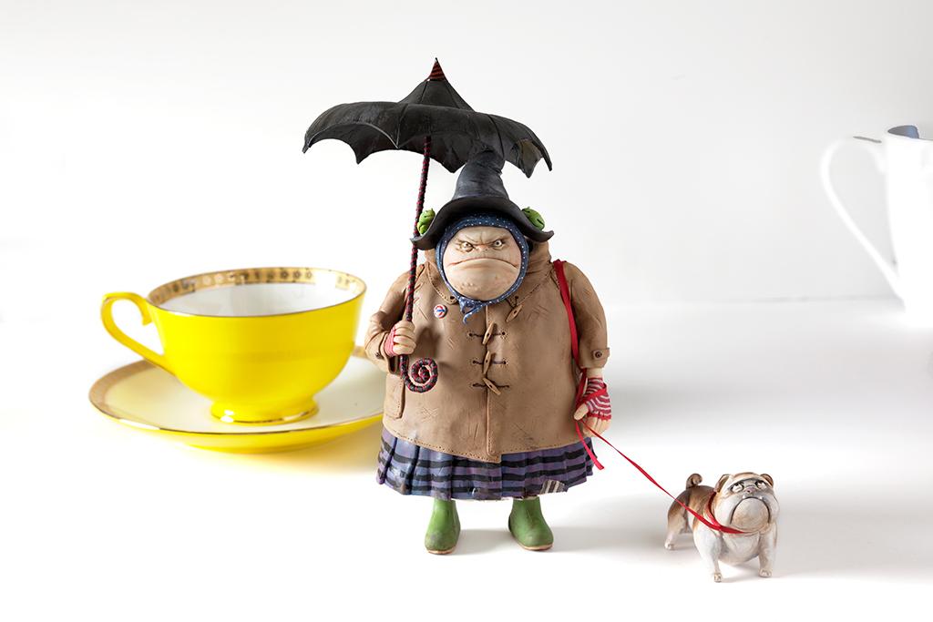Mildred Muddlesop and bulldog Archie