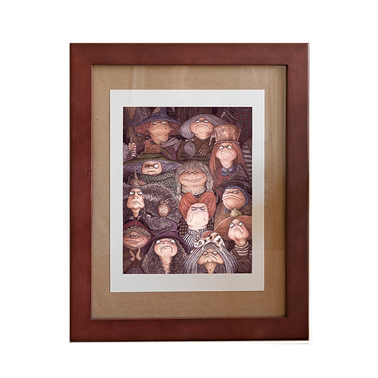 Framed Fine Art Print - Gaggle of Witches
