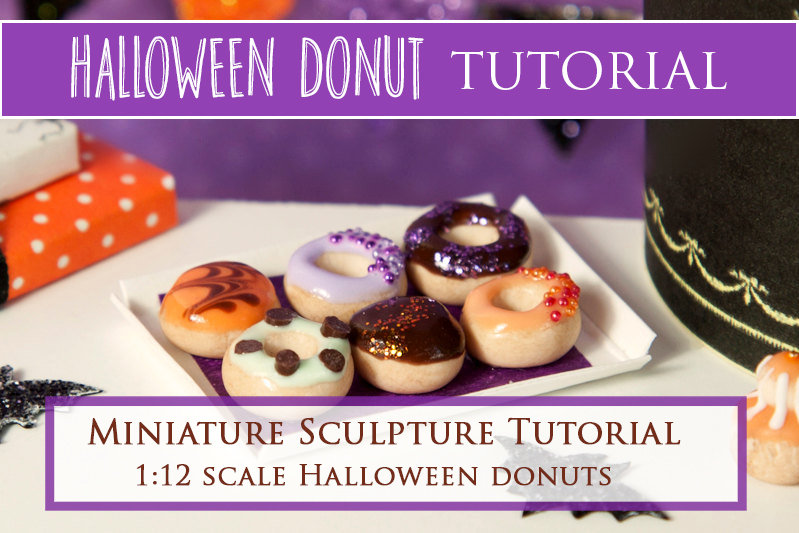 Halloween Donuts Miniature Sculpture Tutorial