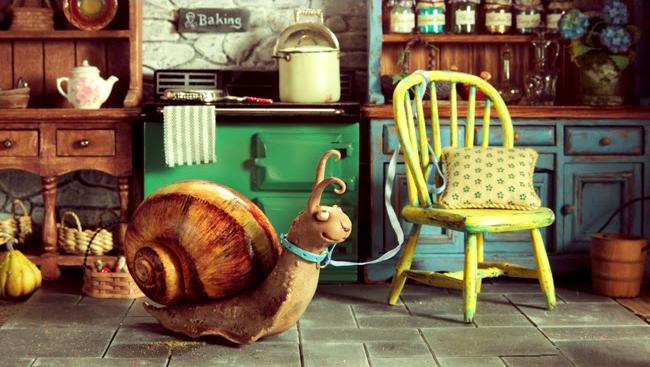 Myrtle's pet snail