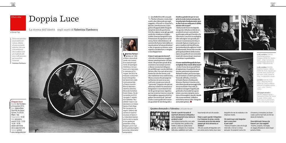 Valentina Tamborra su Il Fotografo