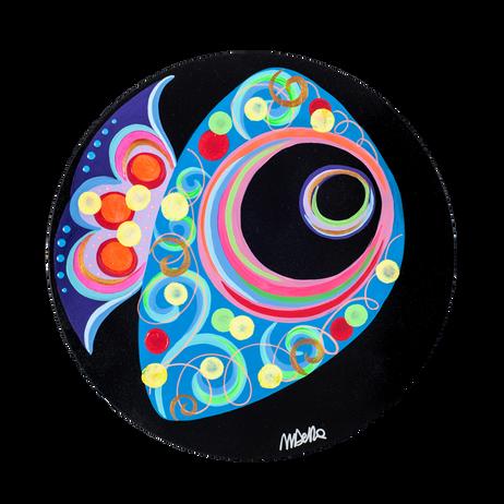 L'Acquario Infinito n.183,Acrilico su tela,40 cm, 2018