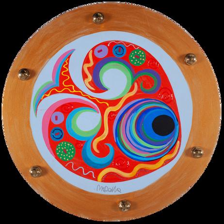 Oblo' 4.0 n.237,Acrilico su legno,40 cm, 2018