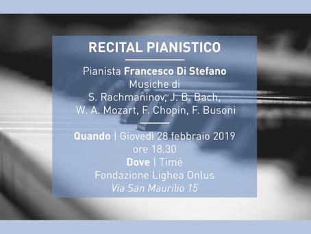 Circolo Culturale Timé: Recital Pianistico