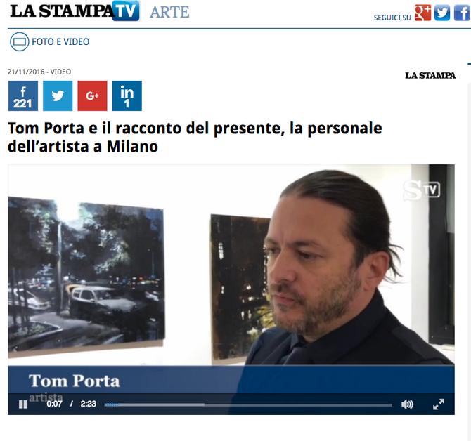 Intervista di Tom Porta per La Stampa