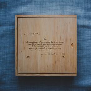 Novità: scatola in legno portafoto