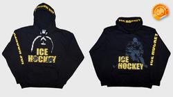 """""""ICE HOCKEY"""" kapucnis, fűzős pulóver"""