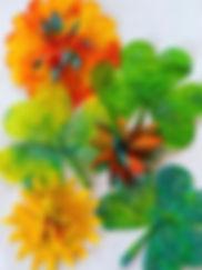 Coffee filter shamrocks and flowers 2.jp