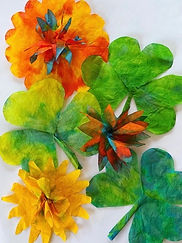 Coffee filter shamrocks and flowers 2.jp