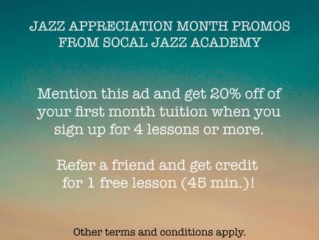 April 2019: Jazz Appreciation Month