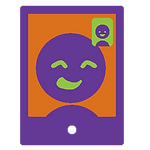 Icon showing phone during video call