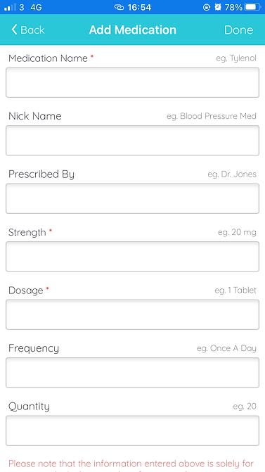 track medication screen