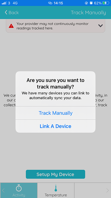 track manually popup