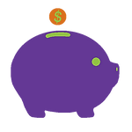 Icon showing piggy bank