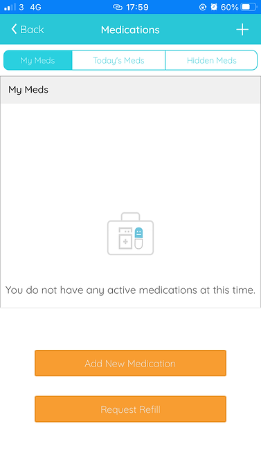 add new medication page