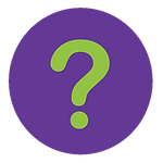 Icon showing question mark