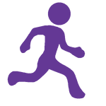 Icon showing running person