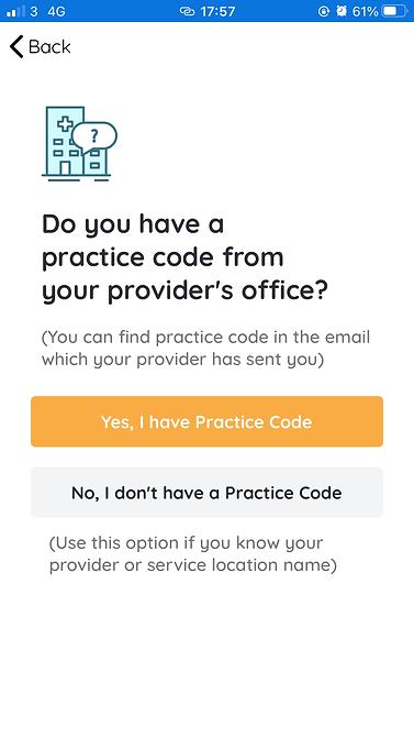 practice code screen