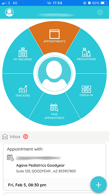 dashboard with appointments highlighted