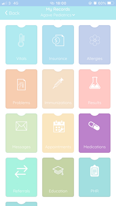 records with medications highlighted
