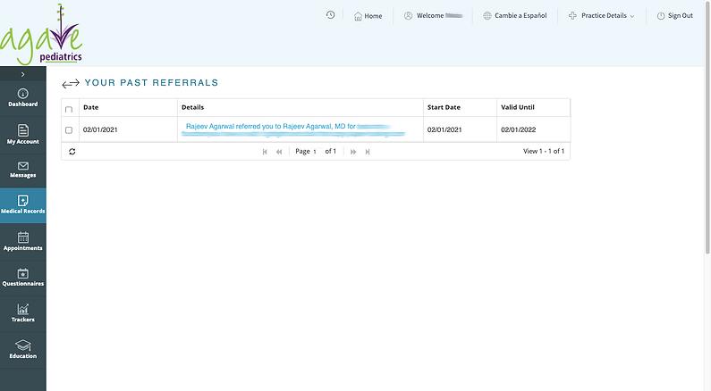 referrals screen