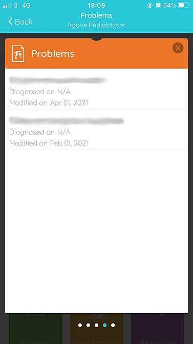 diagnosis or problems screen