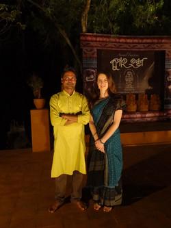 Chloé et Guru Lingaraj Swain