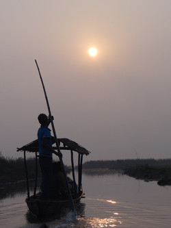 Ballade en bateau matinale à Chilika