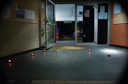 L'entrée illuminée