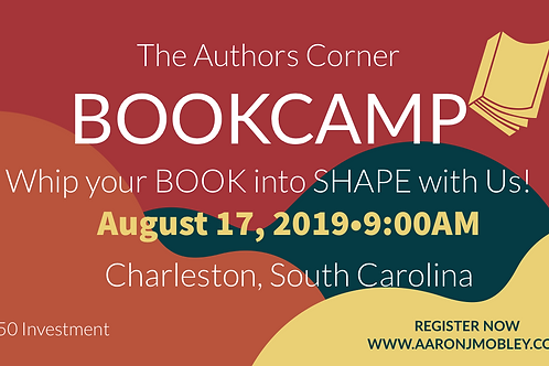 Writers Book Camp- August 17, 2019