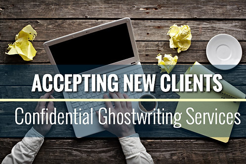 Ghost Writing, Cover Design and Formatting
