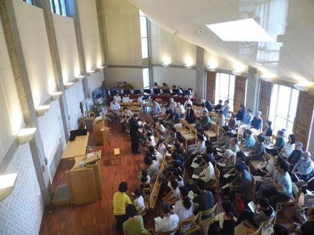 6月の「愛児園・CS・教会合同礼拝」