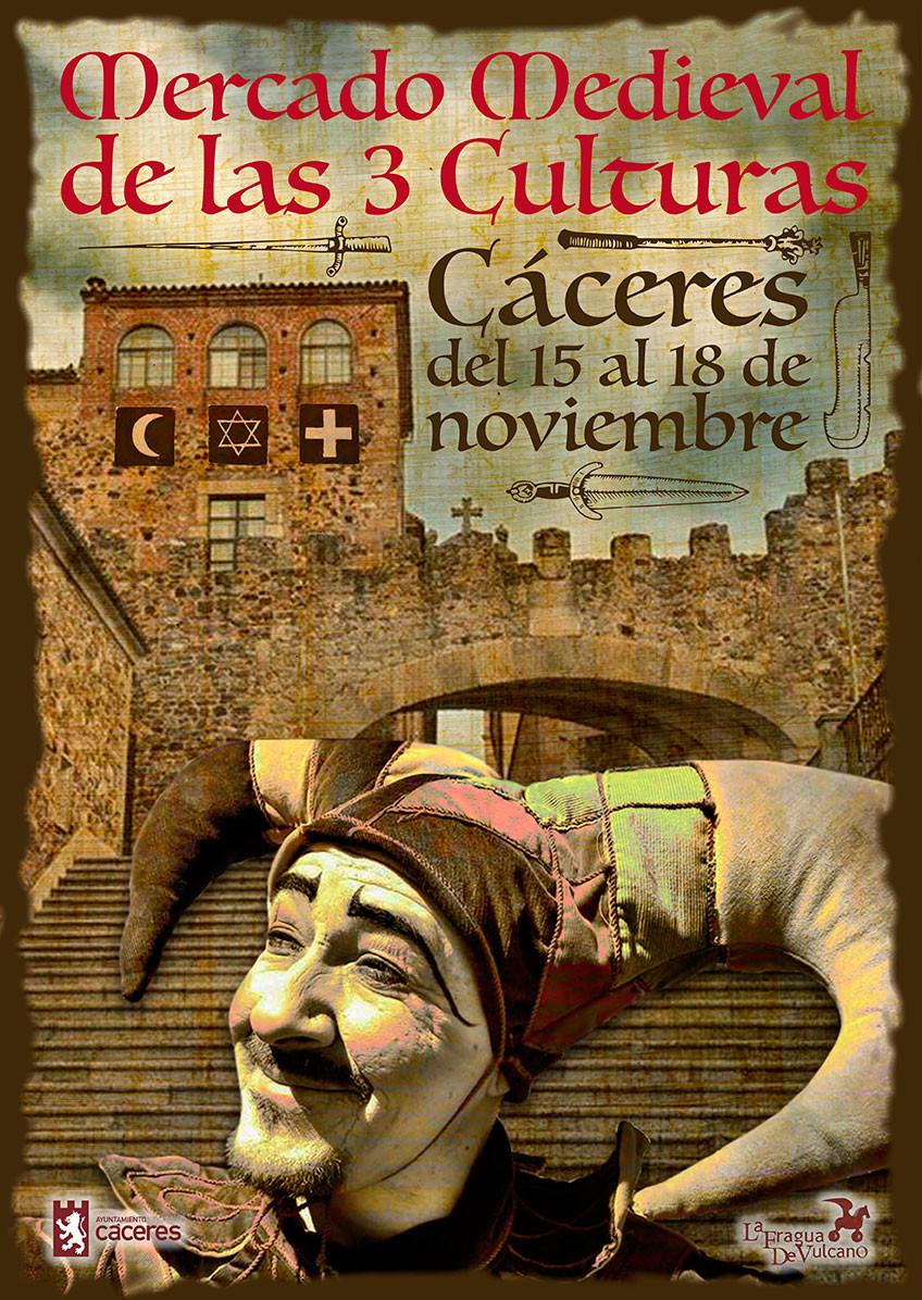 Cartel Mercado medieval Cáceres
