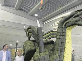 Hasta 11 dragones y un imponente San Jorge se enfrentarán hoy en las calles de Cáceres