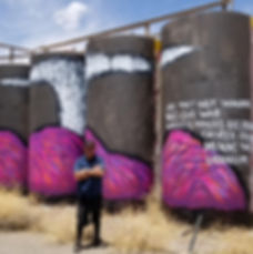 Street art, Jetsonorama, Erin Joyce, Jerrell Singer, Navajo Nation, Contemporary Art, Chip Thomas
